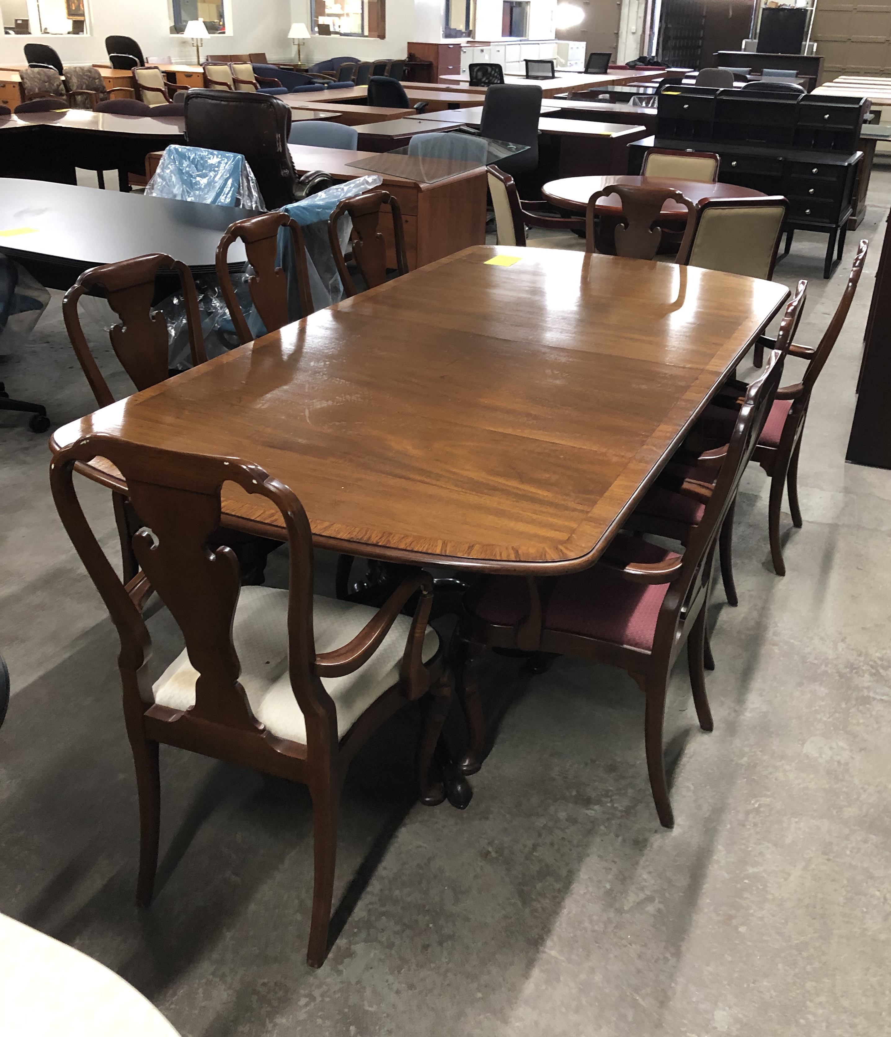 Pre-owned- Traditional Wood grain Conference Table (approx 10 ft